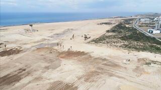 מתחם תעופה שדה דב לאחר פינוי והריסת שדה התעופה, צילום: משרד הביטחון