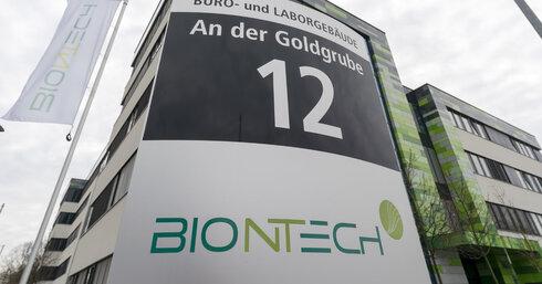 מטה חברת תרופות ביונטק BioNTech מיינץ גרמניה קורונה , צילום: EPA
