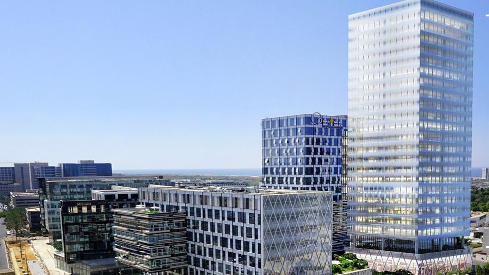 הדמיית מגדל חברת גב ים חברות אפל רחוב משכית הרצליה פיתוח