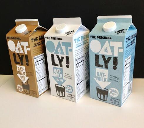 חלב שיבולת שועל אוטלי Oatly שבדיה, צילום: Oatly