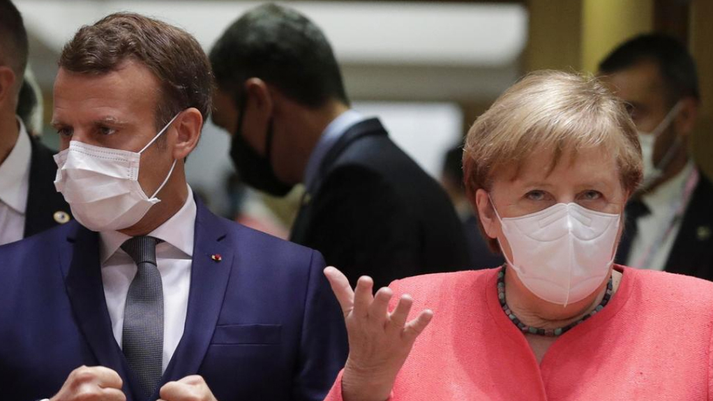 פסגת מנהיגי האיחוד האירופי אנגלה מרקל ועמנואל מקרון