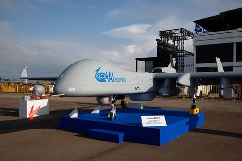 """מל""""ט של התעשייה האווירית, צילום: בלומברג"""