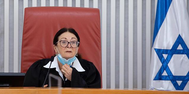 נשיאת בית המשפט העליון אסתר חיות קורונה