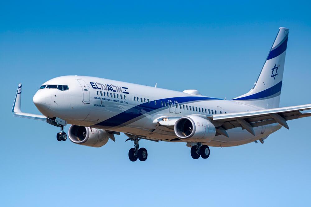 אל על בואינג 737 נוחת בציריך