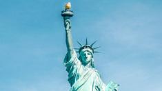 פוטו מבנים אייקוניים עם מדרגות פסל החירות ניו יורק , צילום: שאטרסטוק