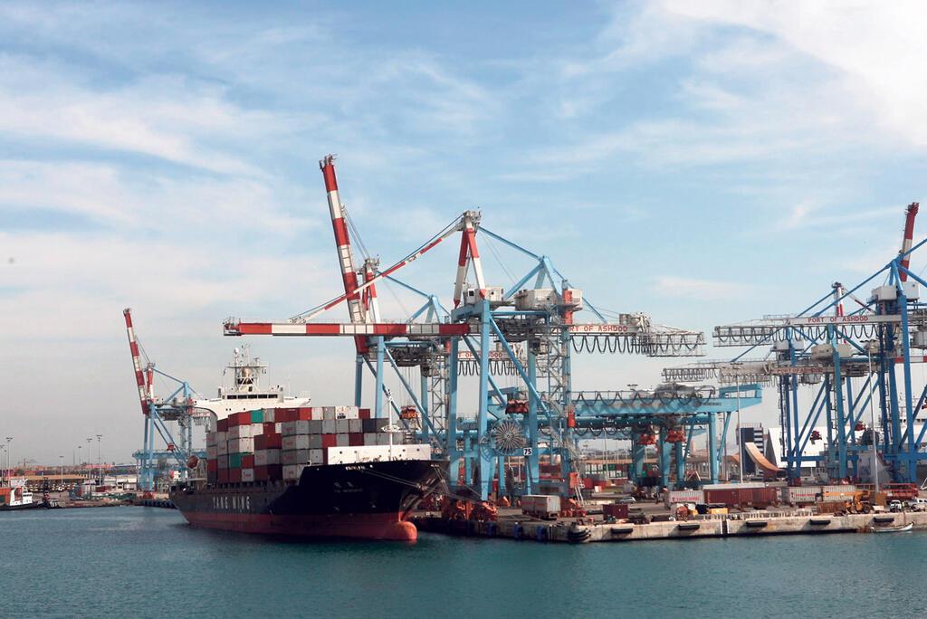 נתב ספינות ב נמל אשדוד אניות משא