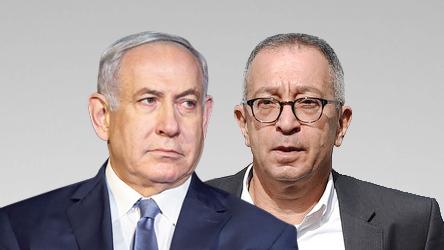 """עו""""ד בועז בן צור וראש הממשלה בנימין נתניהו, צילום: יובל חן, אלעד גרשגורן"""