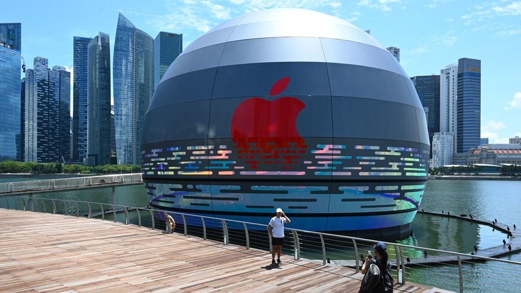 עיצוב החנות החדשה של אפל בסינגפור