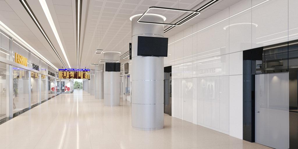 הדמיית המרכז המסחרי ב תחנת רכבת ישראל ב לוד