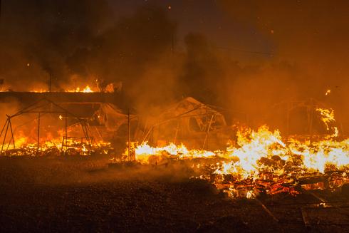 """שריפות ענק במערב ארה""""ב, צילום: אם סי טי"""