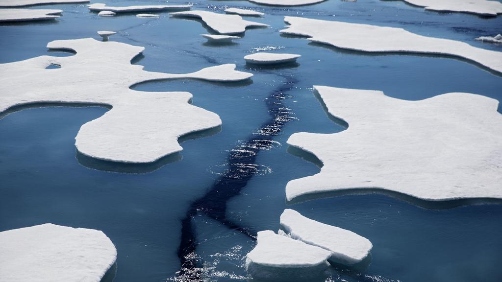 ים ארקטי קוטב צפוני קרח קרחונים משבר אקלים התחממות גלובלית