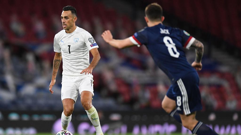 נבחרת ישראל נגד סקוטלנד אליפות אירופה ב כדורגל ערן זהבי