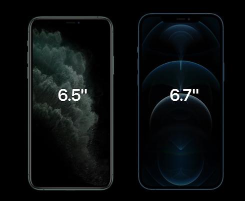 מסכי אייפון בגדלים שונים, צילום מסך: אפל