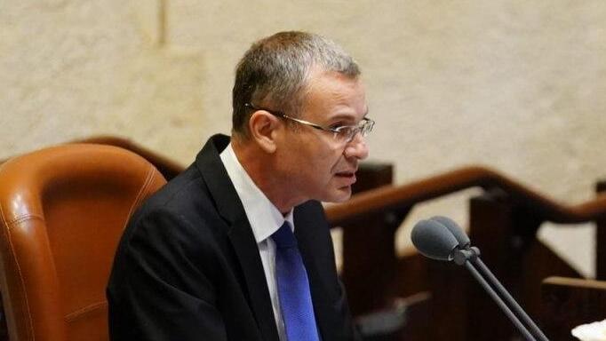 """יו""""ר הכנסת יריב לוין, צילום: דוברות הכנסת - יניב נדב"""