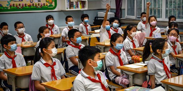 בית ספר תלמידים סין קורונה