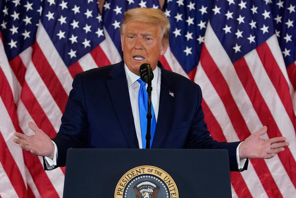 דונלד טראמפ נאום ניצחון מוקדם בחירות לנשיאות 2020