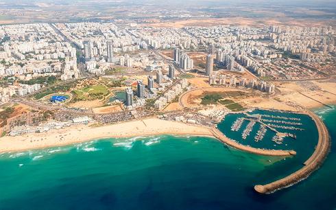 מבט עילי על העיר אשדוד, צילום: איתמר יחזקאל