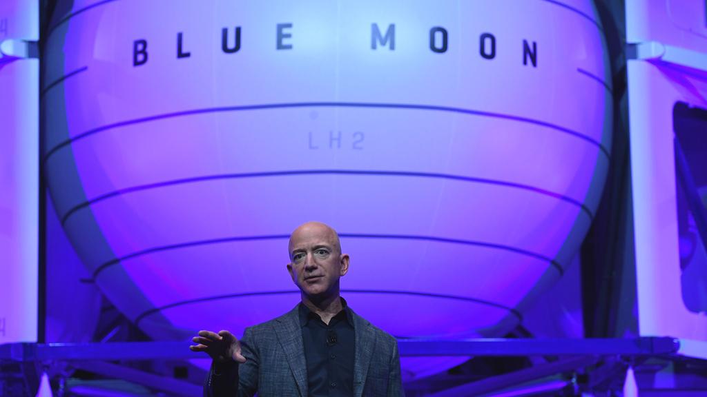 ג'ף בזוס חברת חלל בלו מון blue moon