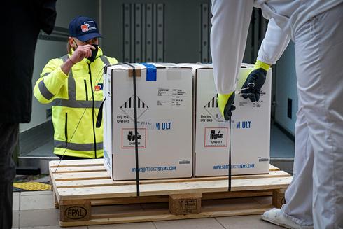 משלוח של חיסוני פייזר וביונטק מגיע לסלובקיה (ארכיון), צילום: אי פי איי