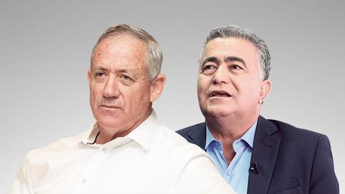 עמיר פרץ ובני גנץ, צילום: דנה קופל, אוראל כהן