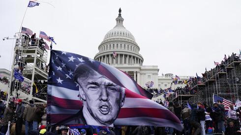 המהומות בקפיטול, בינואר, צילום: אי פי איי