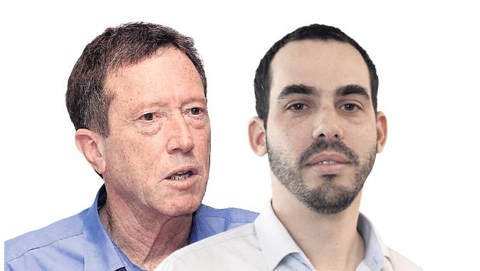 מימין: יוגב גרדוס ואבי שמחון, צילום: אוראל כהן