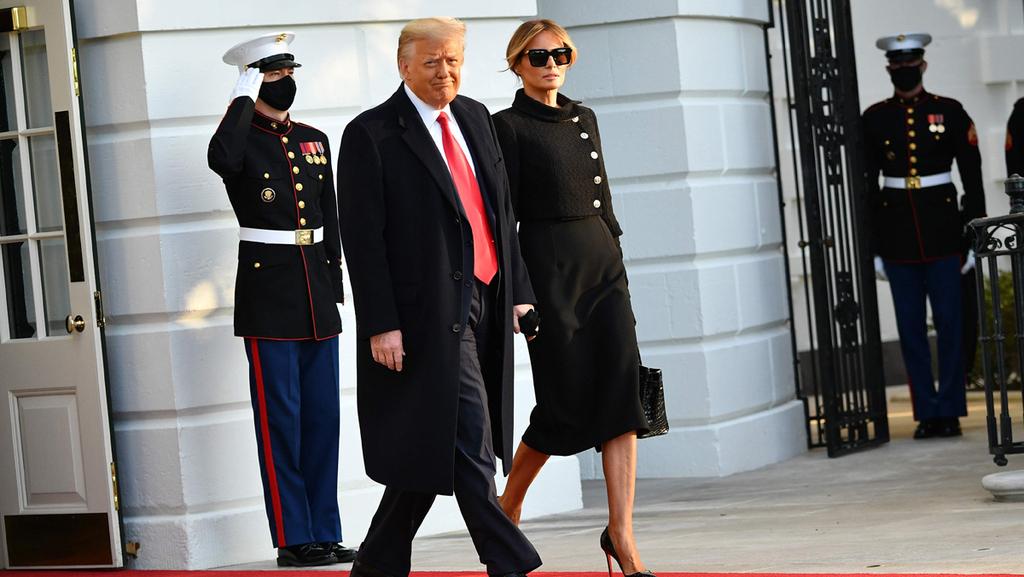 מלניה טראמפ דונלד טראמפ עוזבים את הבית הלבן סיום כהונתו כנשיא