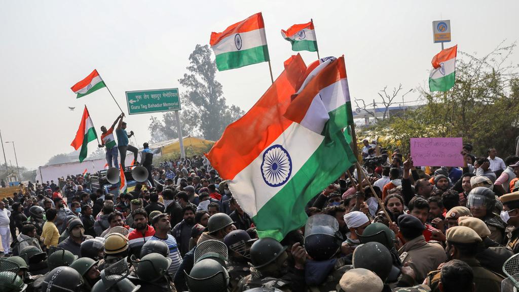 הפגנת חקלאים חוואים ב הודו