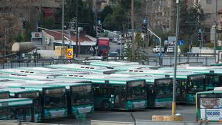 אוטובוסים ב חניון אגד ב בנייני האומה ב ירושלים, צילום: יואב דודקביץ