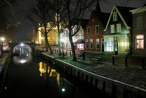 סגר לילי באמסטרדם, צילום: רויטרס
