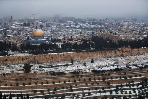 שלג ב ירושלים פברואר 2021, צילום: רויטרס