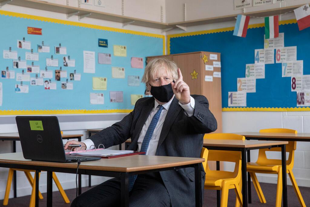 קורונה בוריס ג'ונסון בית ספר Sedgehill לונדון בריטניה