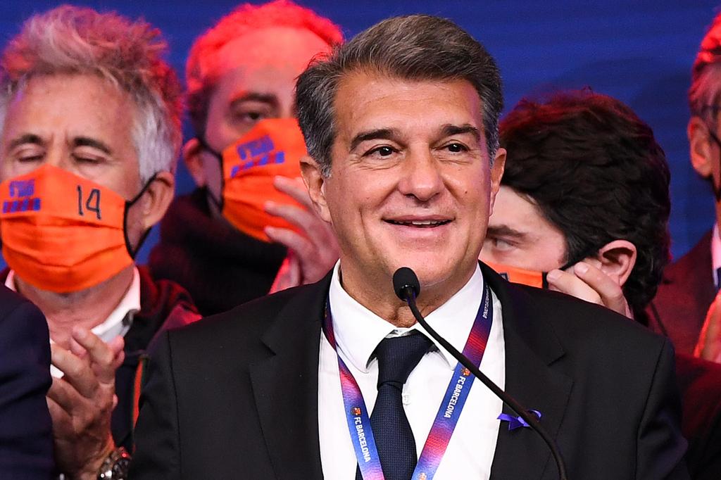 נשיא ברצלונה הנבחר ז'ואן לאפורטה