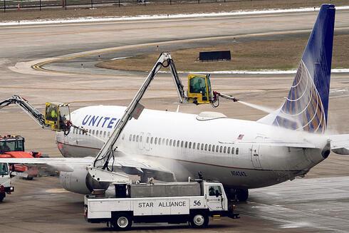 מטוס של יונייטד איירליינס ביוסטון, צילום: איי פי