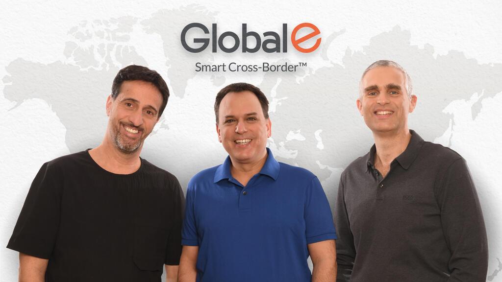 מימין אמיר שלכט שחר תמרי ו ניר דבי מייסדי גלובל-אי גלובל אי Global-e