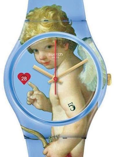 שעון סווטש עם קופידון מיצירה של גווידו רני פנאי