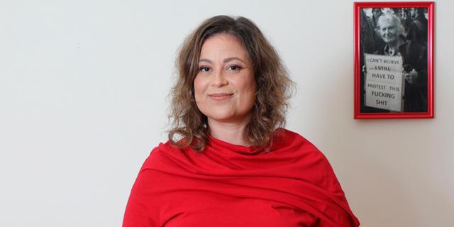 ענבל חרמוני יו״ר איגוד העובדות והעובדים הסוציאליים כנס חיסון חברתי