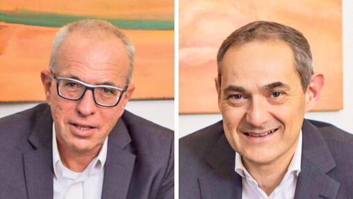 מימין: גיל דויטש ורוני בירם, צילום: שי שברו