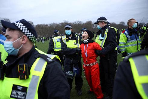 מחאה בלונדון, צילום: רויטרס