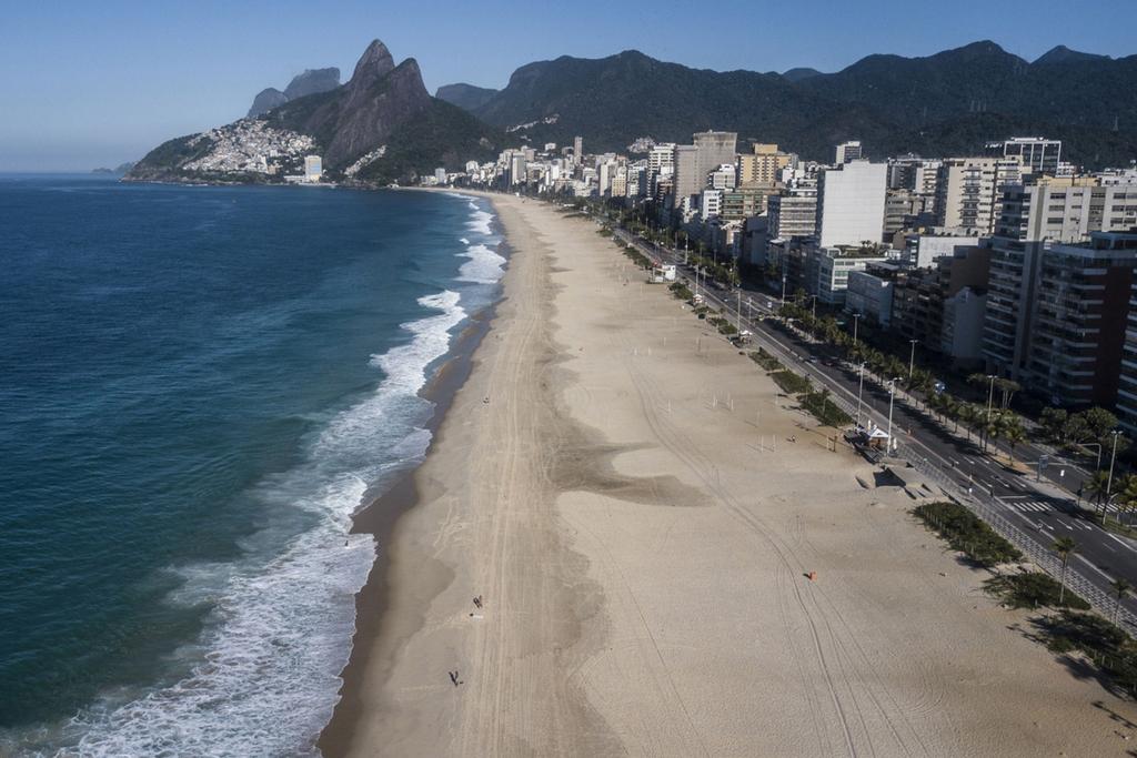 חוף איפנימה ריו דה ז'ניירו ברזיל סגור קורונה