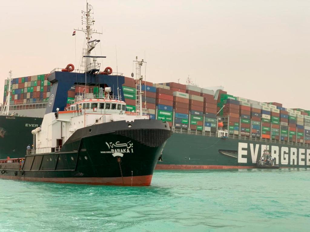 אוניה שחוסמת את המעבר בתעלת סואץ MV Ever Given