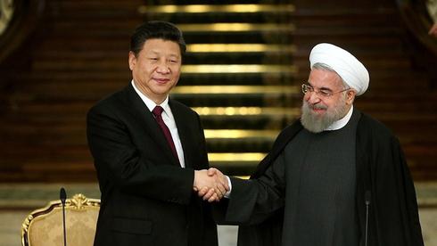 נשיא איראן חסן רוחאני ונשיא סין שי ג