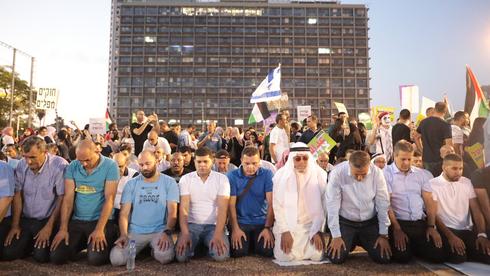הפגנת ערביי ישראל בכיכר רבין. ארכיון, צילום: טל שחר