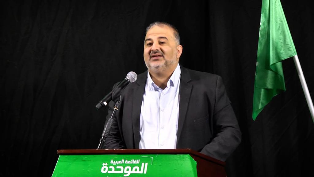 """מנסור עבאס יו""""ר רע""""ם רע""""מ הצהרה ל תקשורת מסיבת עיתונאים בחירות 2021"""