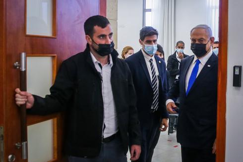 בנימין נתניהו בבית המשפט , צילום: אורן בן חקון
