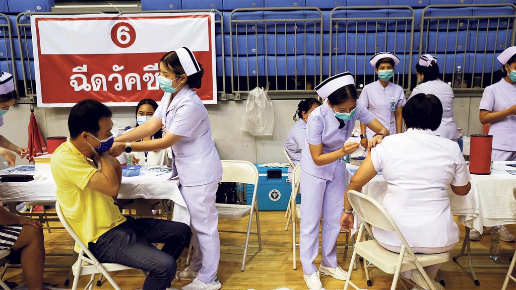 מרכז התחסנות ב פוקט תאילנד , בשבוע שעבר