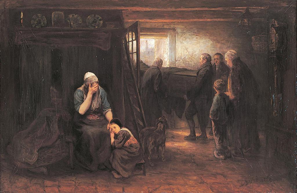 פנאי מחושך לאור של יוזף ישראלס מ־1874 ציור שבמרכז התביעה