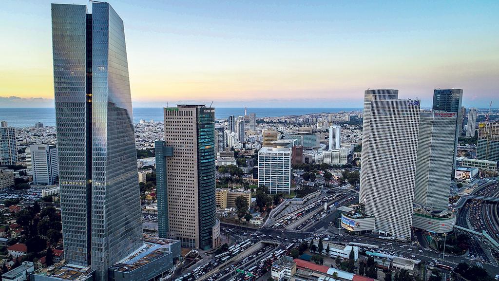 מגדלי משרדים בתל אביב, צילום: לביא צילומי אוויר