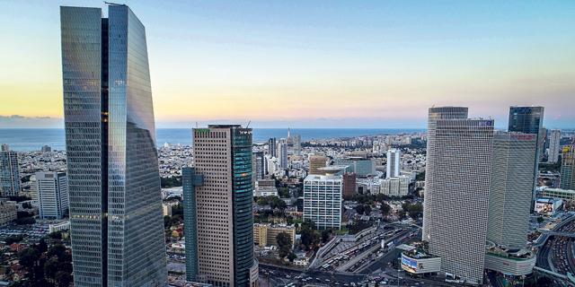 מגדלי משרדים ב תל אביב, צילום: לביא צילומי אוויר