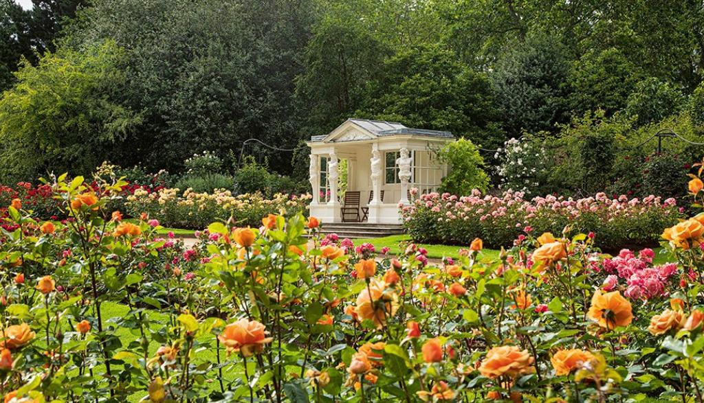 הגינות ב ארמון בקינגהאם בריטניה בית המלוכה מוכר כרטיסים לציבור הרחב 3
